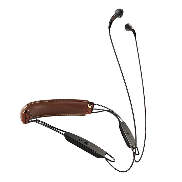 <b>14. Klipsch X12 Bluetooth Neckband</b>  가죽 밴드 트림으로 스타일리시한 디자인을 자랑한다. 클립쉬 X12 블루투스 넥 밴드 무선 이어폰은 최고의 사운드를 쉽게 들을 수 있는 툴이다. 제조사의 이야기에 따르면, 이 제품은 X12i의 무선 이어폰을 업그레이드했고, 약간의 방수기능을 추가했다. 좌우 균형을 신경 쓴 사운드를 제공하며 최대 18시간의 배터리 수명을 제공한다. 299달러(해외 판매)