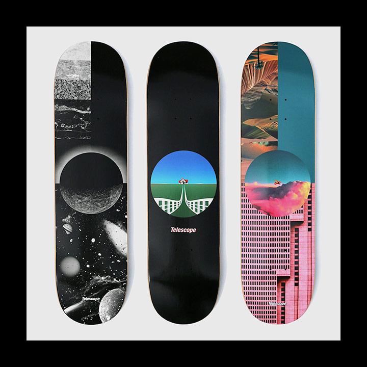 TELESCOPE와 협업한 스케이트보드 데크 디자인