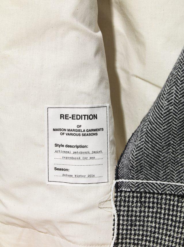 마르지엘라는 지난 시즌 옷을 다시 만들어내기도 한다. 그런 옷에는 '리-에디션'이라는 라벨을 하나 더 붙인다.