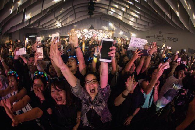 유니버설 뮤직 그룹과의 파트너십을 기반으로 열린 이매진 드래곤스의 콘서트.