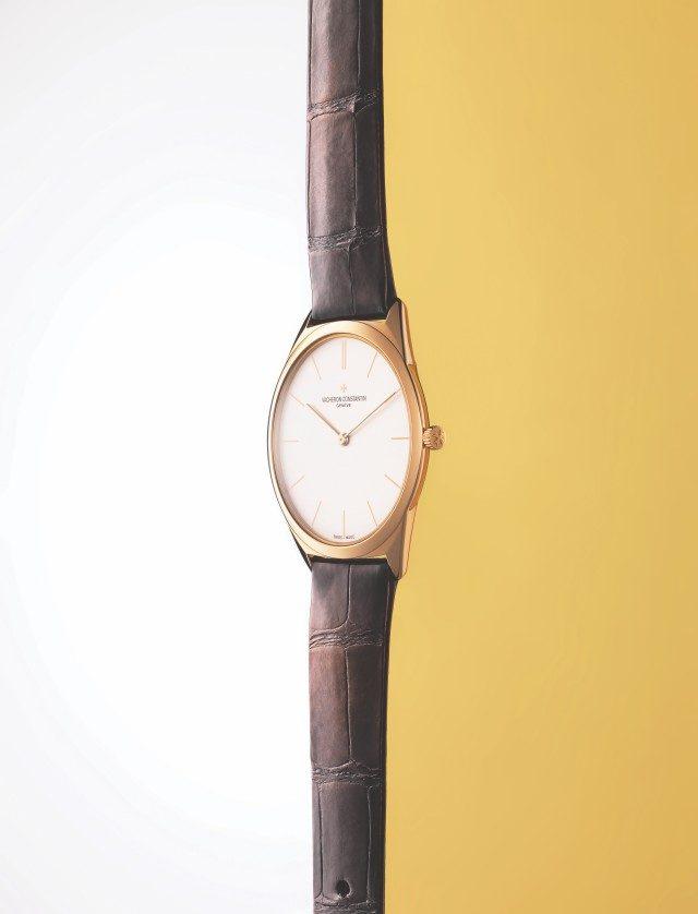 히스토리크 울트라-파인 1955케이스 지름 36mm, 시·분 표시, 핑크 골드 케이스, 미시시피 앨리게이터 브레이슬릿, 4030만원.