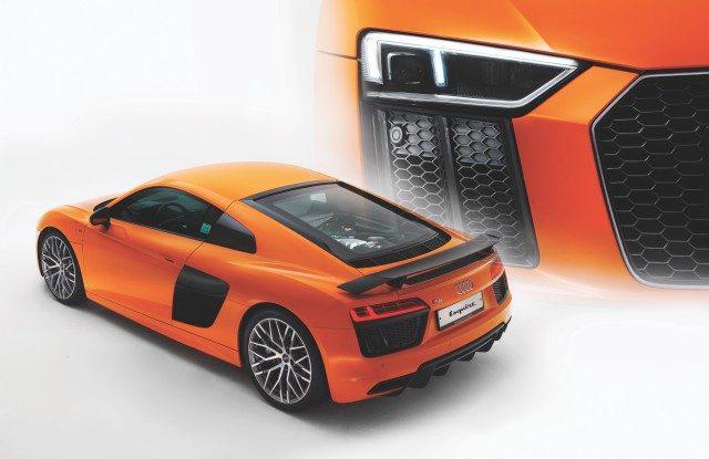 AUDI R8 V10 PLUS COUPE 엔진 5204cc V10   최고 출력 610마력   최대 토크 57.1kg·m   변속기 듀얼 클러치 7단 자동 구동 방식 AWD   복합 연비 6.5km/L   기본 가격 2억4900만원