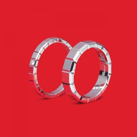 아이스 큐브 화이트 골드 다이아몬드 180만원대, 아이스 큐브 화이트 골드 120만원대 쇼파드.