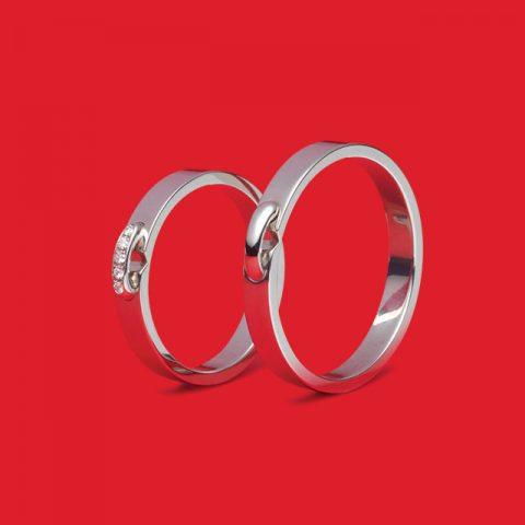 리앙 에비당스 웨딩 링 플래티넘 다이아몬드 300만원대, 리앙 에비당스 웨딩 링 플래티넘 플랫 200만원대 쇼메.