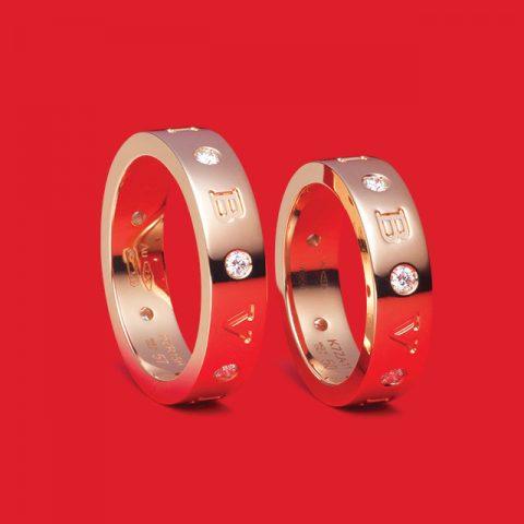 불가리 로만 소르베 로즈 골드 다이아몬드 링 각각 300만원대 불가리.