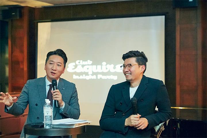 트럼프와 한국 경제에 대해 열띤 토크를 펼치고 있는 정철진 경제전문가와 신기주 편집장.
