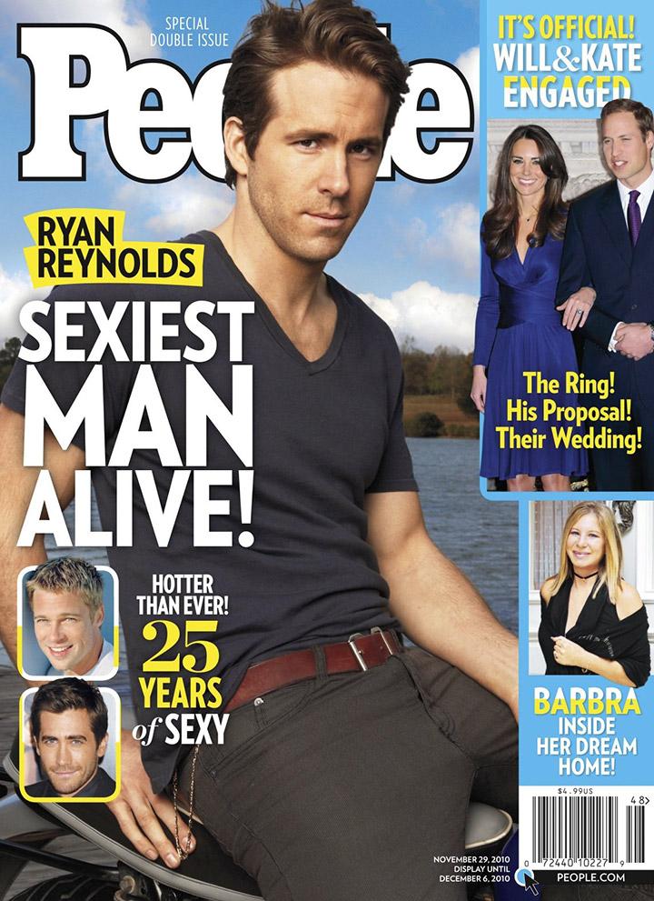 라이언 레놀즈가 피플지가 선정한 가장 섹시한 남자로 선정됐던 것마저도 '이스터에그'로 등장한다.