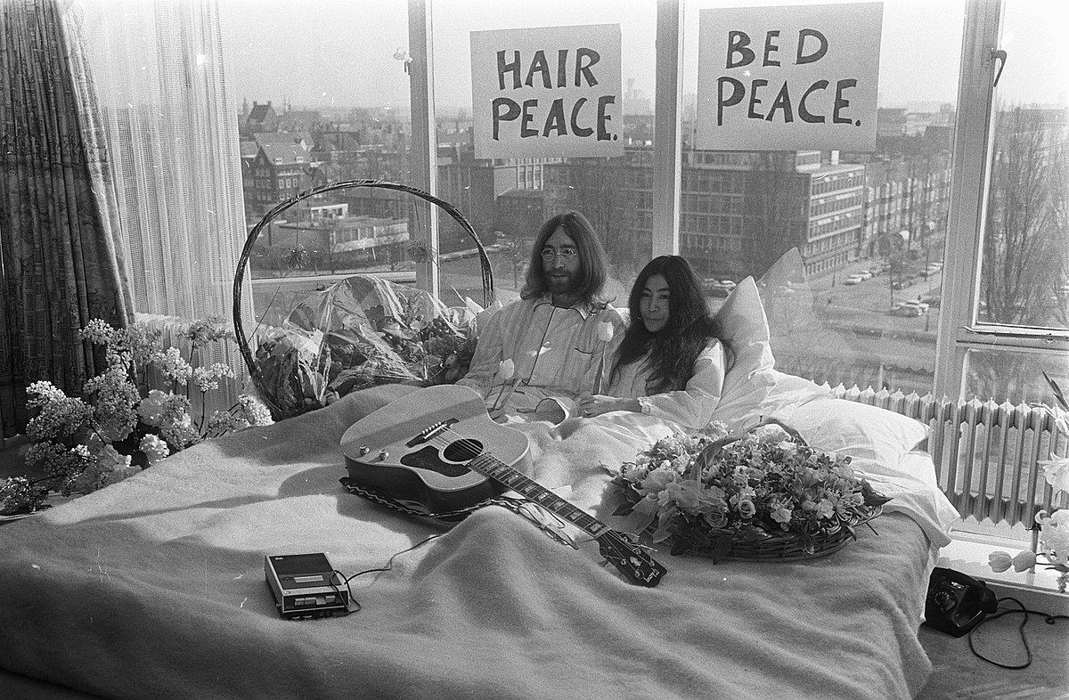 Bed-In for Peace Amsterdam Hilton Hotel, 1969