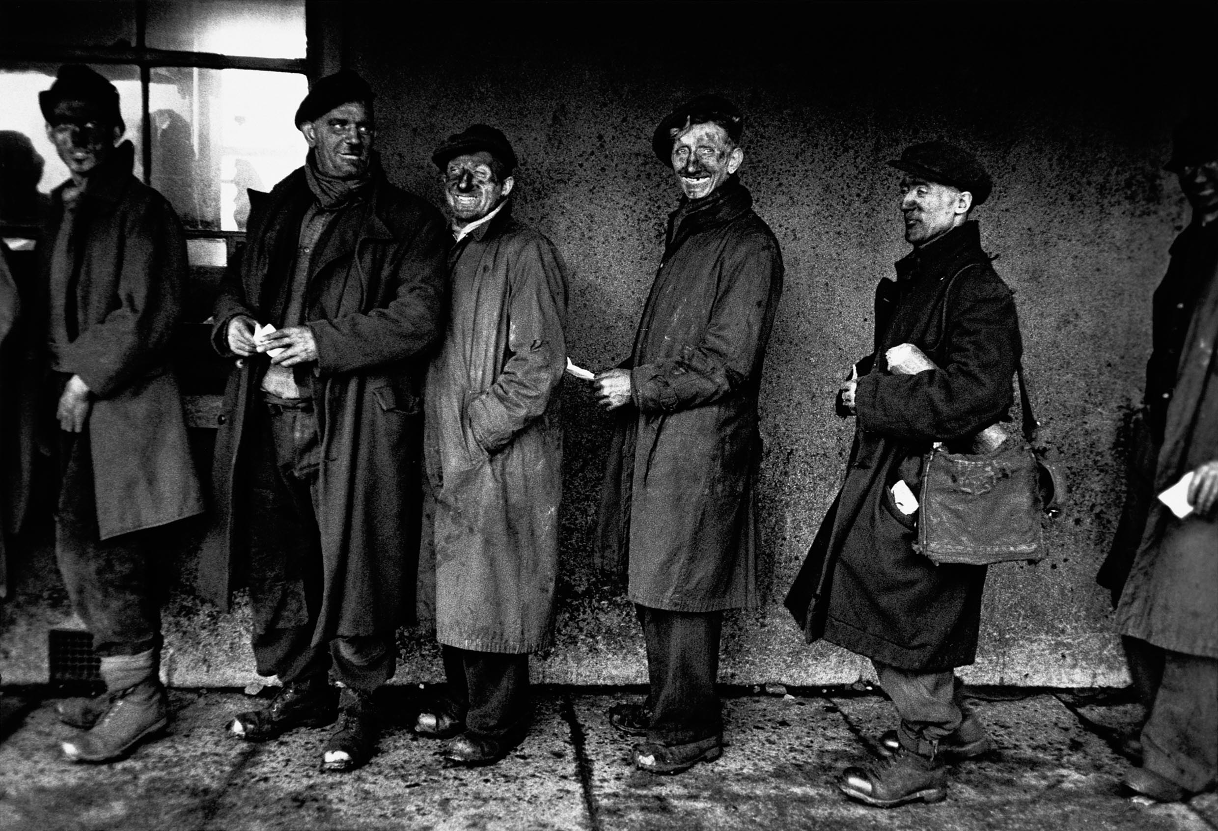 Robert Frank, Welsh Miners (1953), from the book London / Wales (2007) © Robert Frank