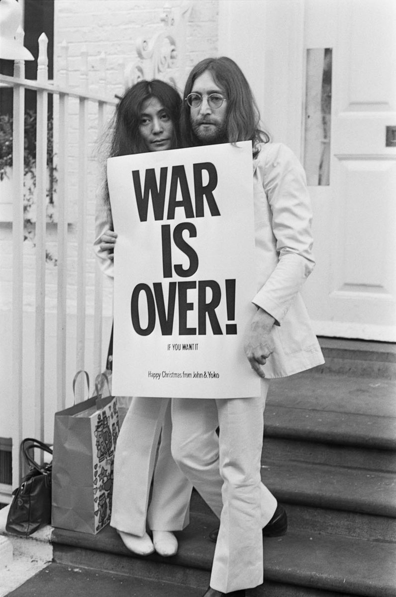 John Lennon and Yoko Ono War is Over Campaign.