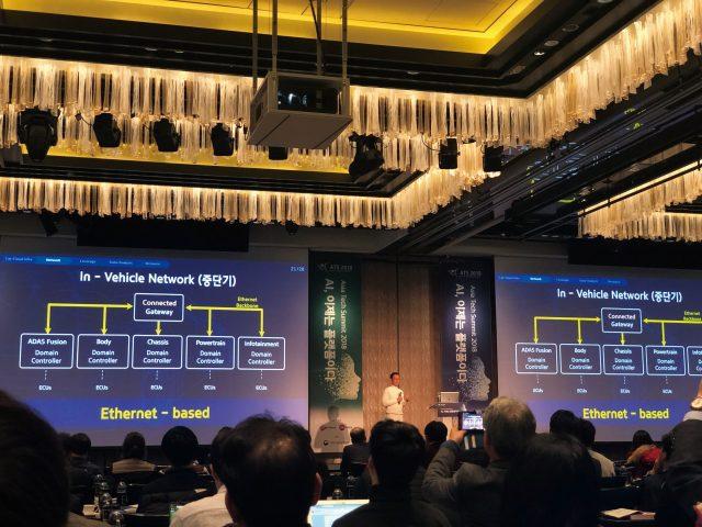 AI와 자율 주행의 관계를 설명하는 현대기아자동차 서정식 ICT 본부장.