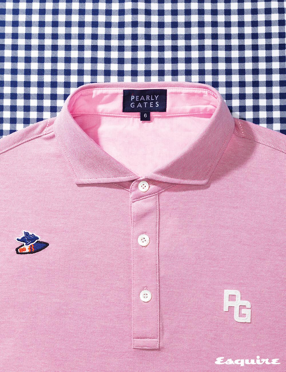 패치 장식 폴로셔츠 23만8000원, 네이비 깅엄체크 폴로셔츠 23만8000원 모두 파리게이츠.