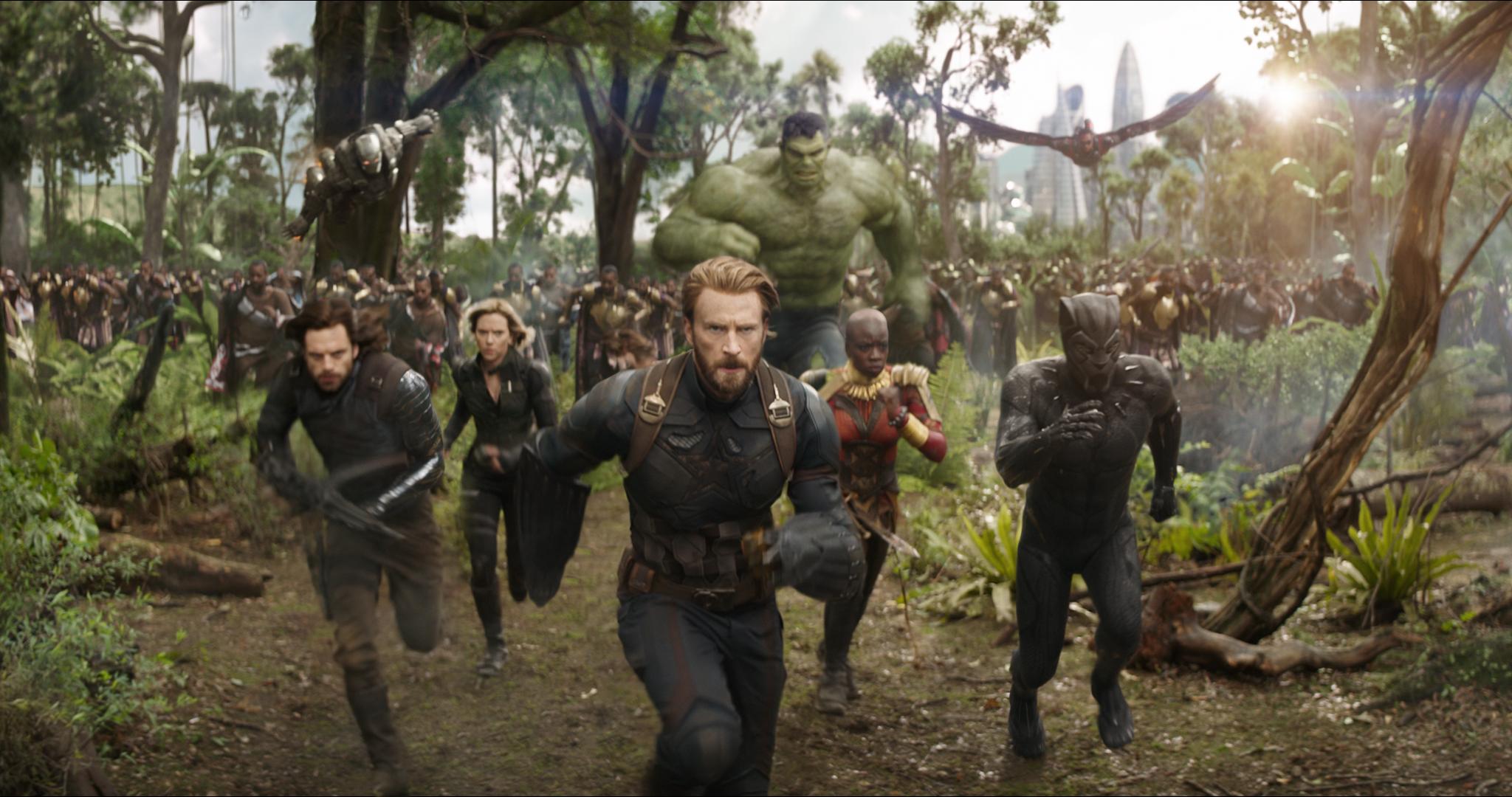 '어벤져스: 인피니티 워'의 한 장면.