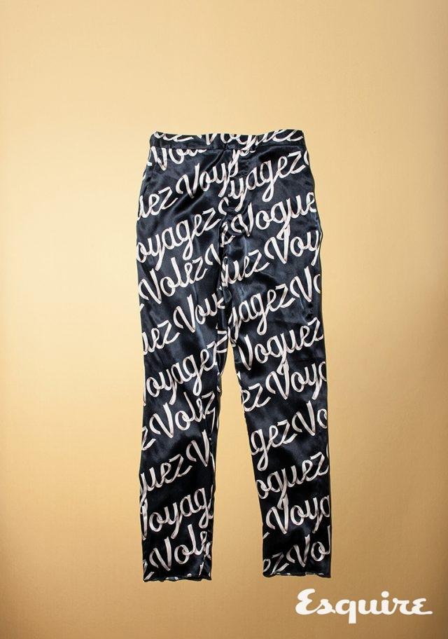 07. LOUIS VUITTONVolez Voguez Voyagez Silk Pants