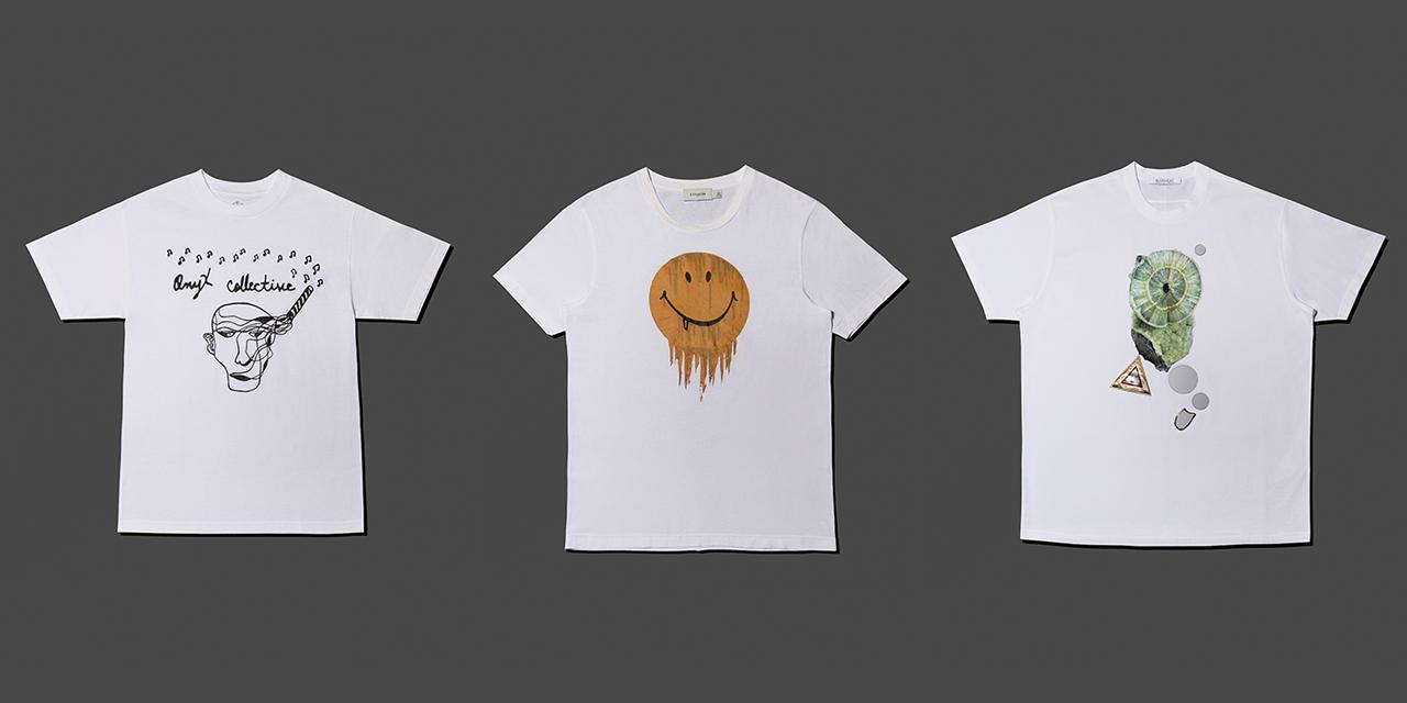 무엇을 걸쳐도 그림처럼 잘 어울리는 흰색 티셔츠들.