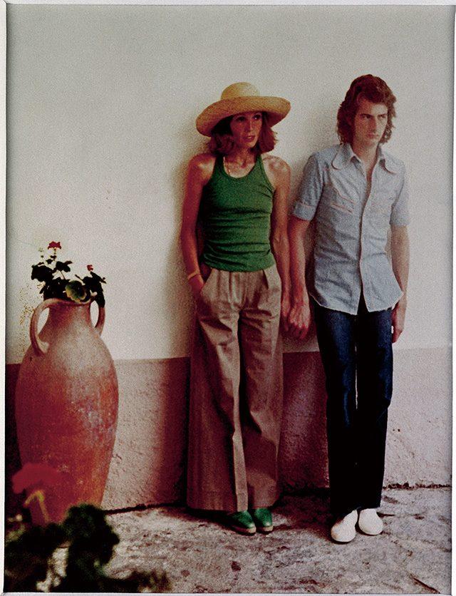 1972년 폴린 데니어와 함께. 두 사람은 1967년부터 쭉 함께 지냈으며 2000년 11월에 결혼식을 올렸다.