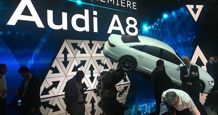세계 최초의 양산형 자율주행 자동차 아우디 A8이 드디어 공개됐다.