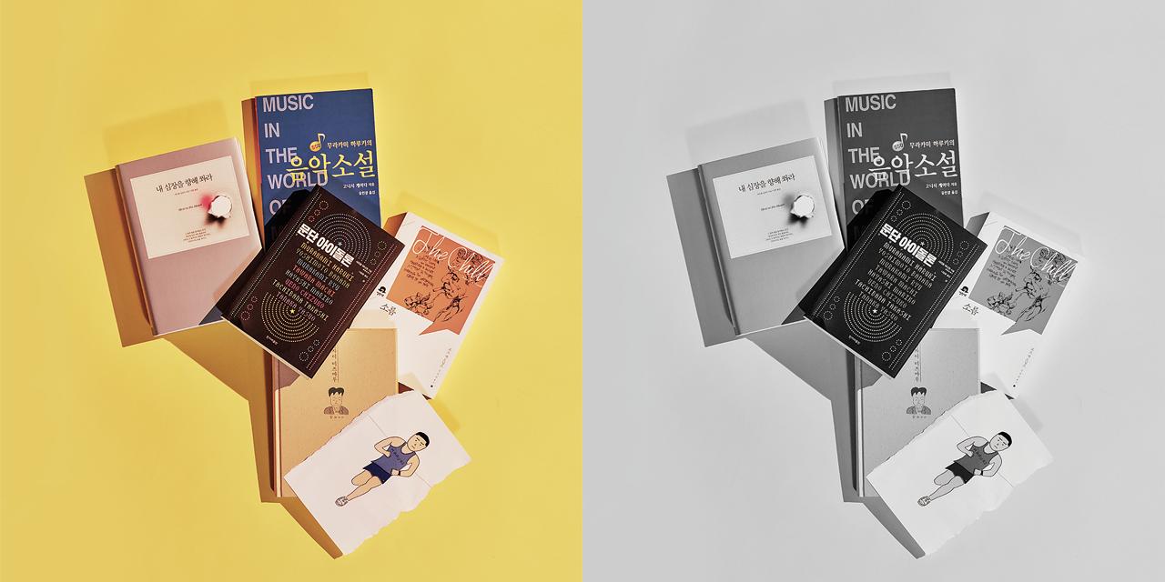7월에 곧 나올 <기사단장 죽이기> 한국어판 출판을 앞두고 본 하루키 월드의 파생 상품.