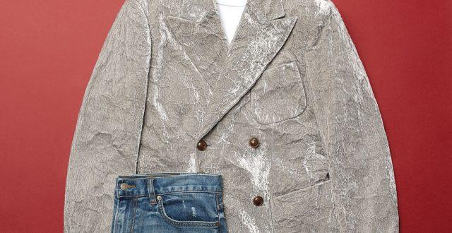 연회색 벨벳 재킷 가격 미정 조르지오 아르마니.
