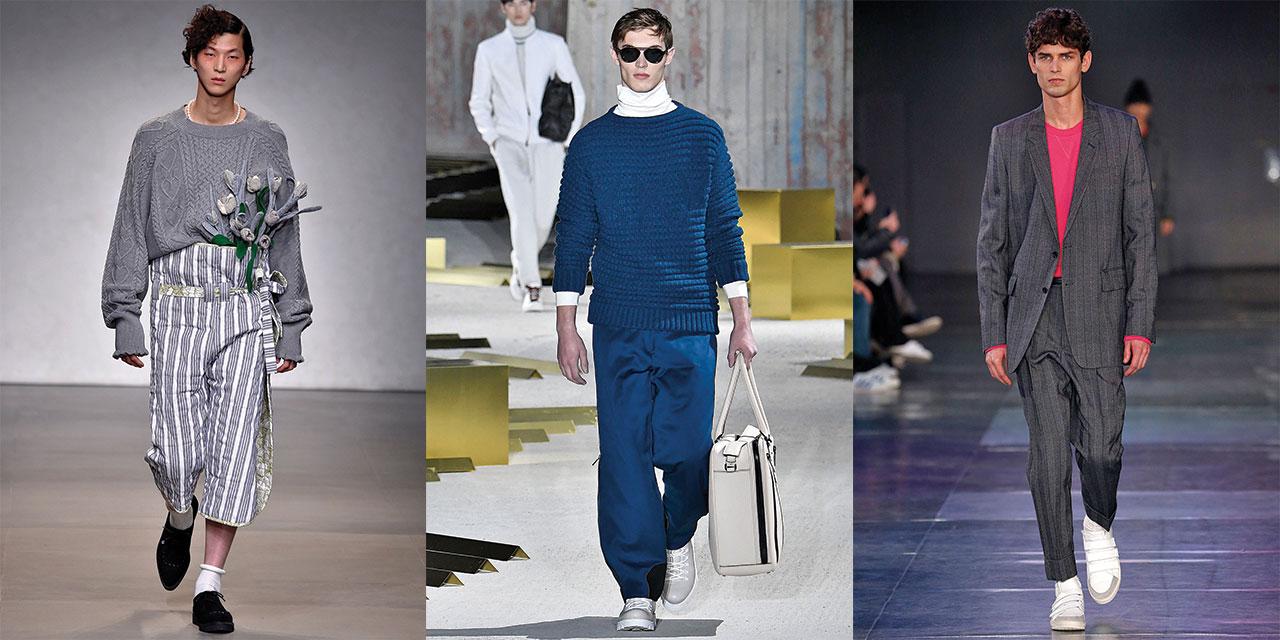 스웨터와 스웨트셔츠의 땀 나도록 치열한 스타일링 대결.