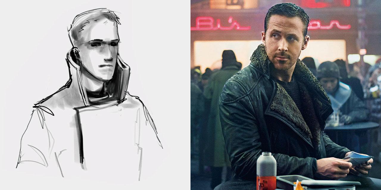라이언 고슬링은 멋있지 않은 옷은 절대 안 입는다. '블레이드 러너 2049'에 그가 입은 미끈한 톱코트가 바로 그 증거다.