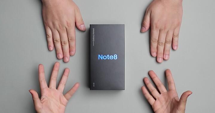 테크 제품 까드립니다. 신개념 테크 신제품 언박싱&리뷰. 두 번째는 '삼성 갤럭시 노트 8'.