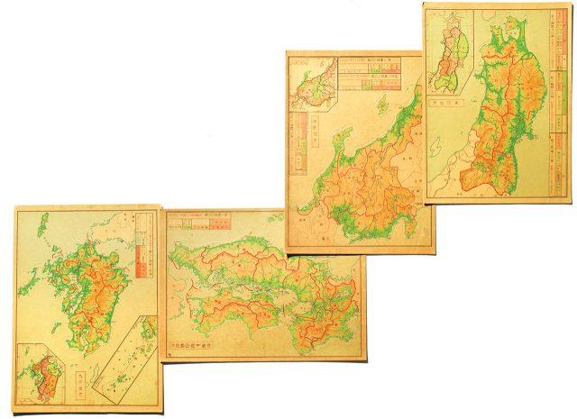 대일본 판지도로 구성해본 일본 본토. 이때까지만 해도 홋카이도는 일본 본토가 아니었다.