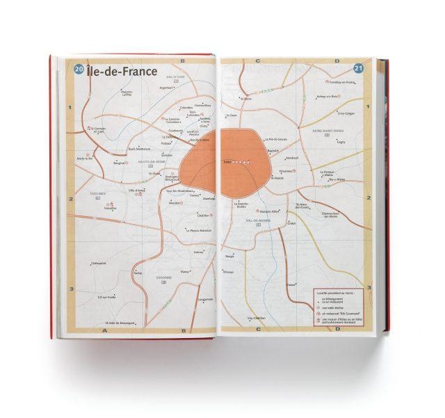 지도에서 어떤 정보를 지우고 남겼으며 각 요소를 어떻게 표현했는지가 가이드북의 방향성을 결정한다. '파리에는 미쉐린 스타 레스토랑과 빕 구르망과 좋은 호텔이 다 있다'는 말을 이렇게 간단하게 표현할 수도 있다. 미쉐린이 한 세기 동안 해온 일이다.