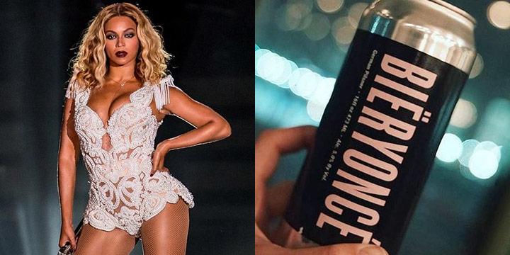 블랙 컬러에 페미니스트라고 쓴 핑크색 글씨가 눈에 띄는 맥주다.