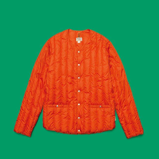주황색 패딩 49만8000원 로키마운틴 페더베드 by플랫폼 플레이스.