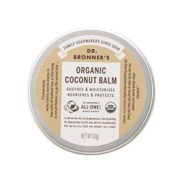 머리부터 발끝까지건조한 부분 어디에든바를 수 있다.오가닉 코코넛 밤 60g/2만3000원닥터 브로너스.