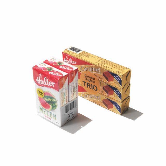 하틀러 캐러멜과 수박 사탕면세 한도에서 스위스제를 사고 싶은데 초콜릿은 싫다면 하틀러를 찾으면 된다. 맛? 기념품 맛이다. 캐러멜 5.2스위스 프랑, 사탕 3.75스위스 프랑.