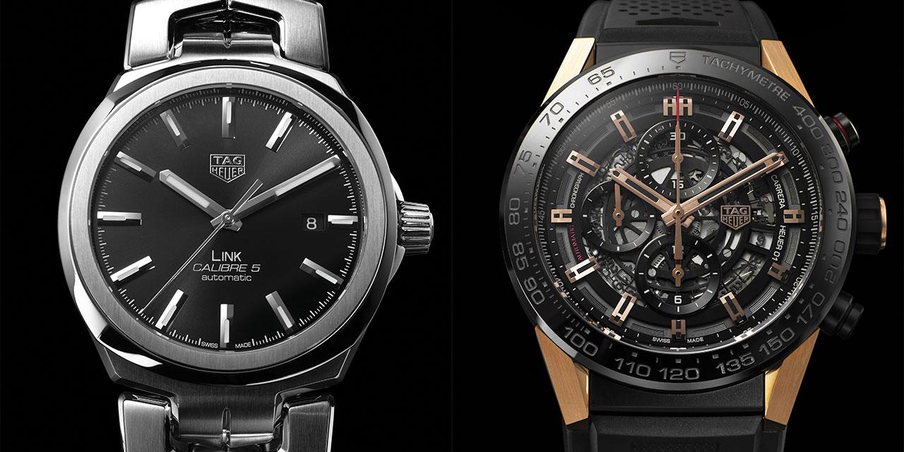태그호이어가 새로 만든 시계, 그리고 한층 새롭게 다듬은 시계.