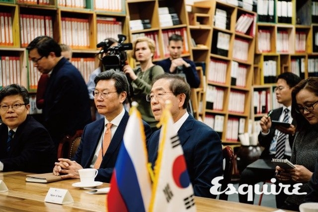 안드레이 보로비예프 모스크바 주지사를 만난 박원순.
