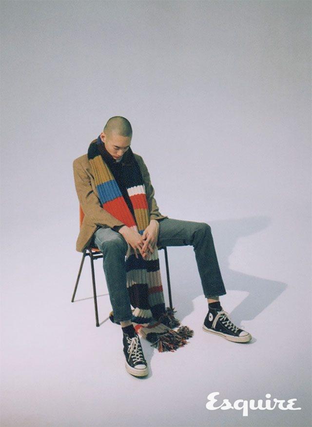 머플러 170만원 버버리. 재킷 가격 미정, 청바지 19만원대 모두 폴로 랄프 로렌. 티셔츠 에디터 소장품. 신발 8만2000원 컨버스.