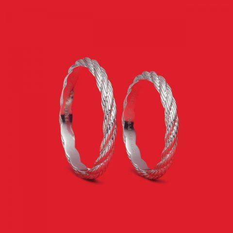 포스텐 플래티넘 웨딩 링 각각 100만원대 프레드.