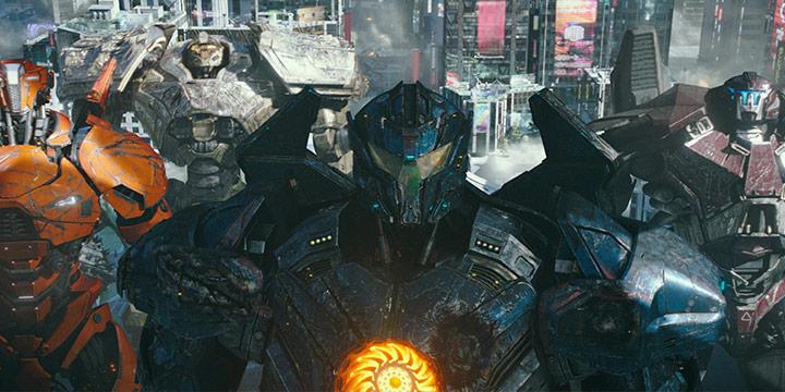 '퍼시픽 림'은 밤에 싸웠다면 2편 '퍼시픽 림: 업라이징'은 낮에 싸운다. 그것만으로도 확연히 달라졌다. 로봇들의 스팩터클한 액션 신이 시원시원하다.