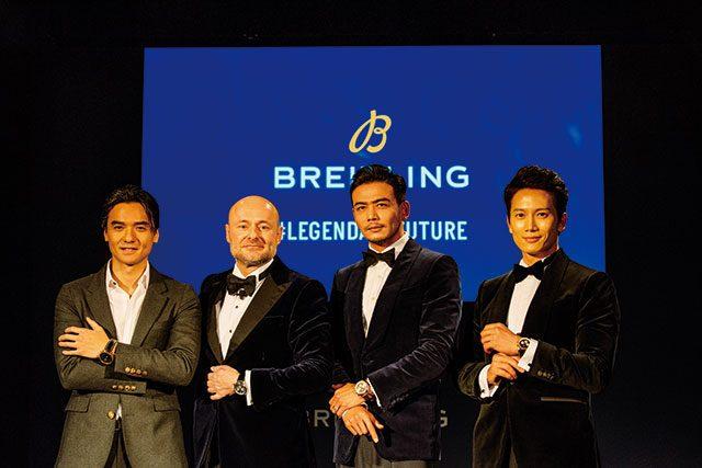 (왼쪽부터) 중국 배우 겸 감독 펑더룬, CEO 조지 컨, 배우 양숴, 지성이 함께 했다.