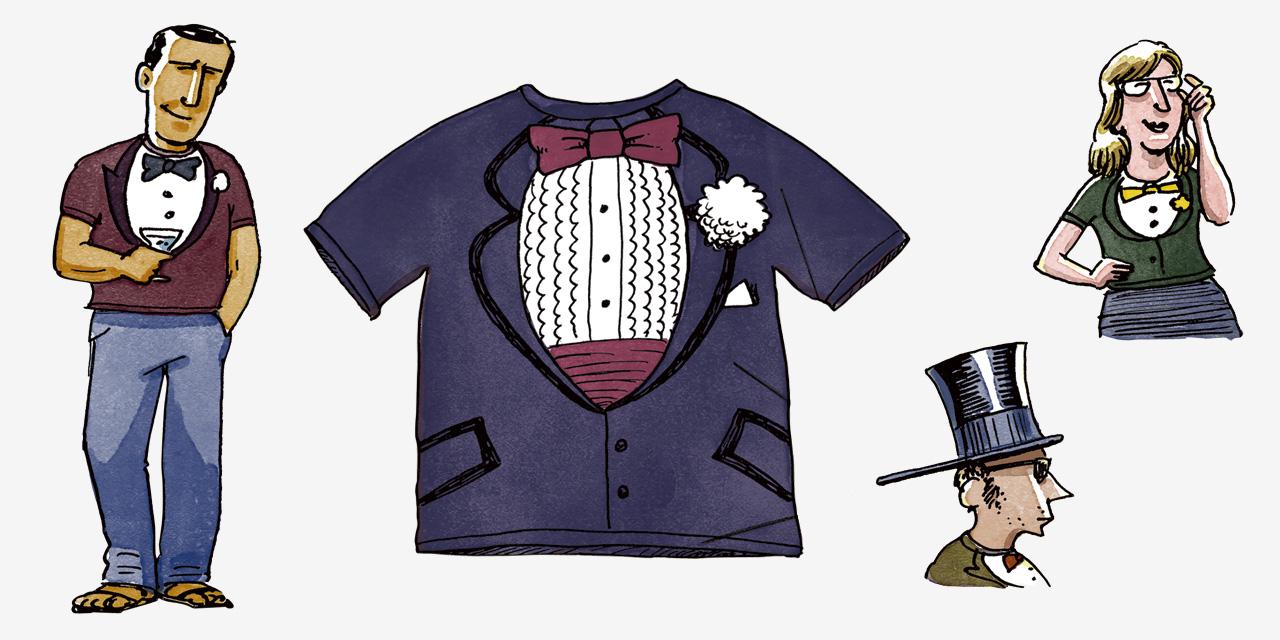 1789년 턱시도 티셔츠는  조잡하지 않은  ...