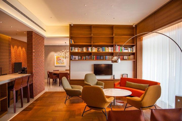 라이브러리 스위트 룸에 마련된 독서 공간