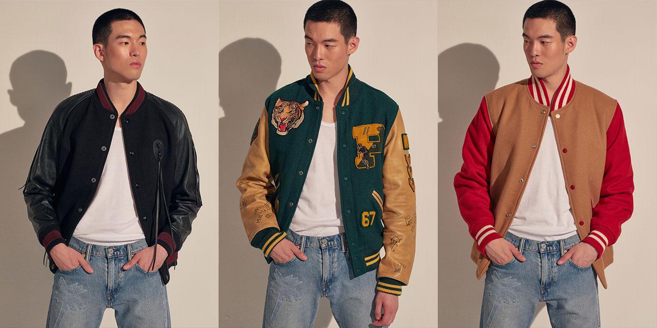 명징한 쾌활함, 건강한 청춘의 상징 바시티 재킷.