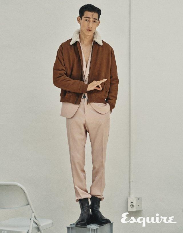 레더 플라이트 재킷, 슈트, 캬락테르 인스팅트 레더 부츠 모두 가격 미정 벨루티.