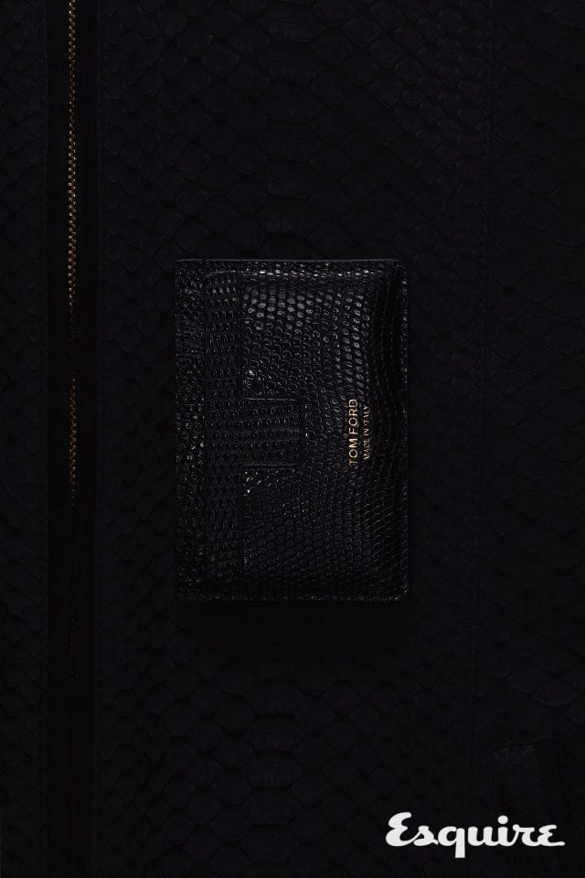 리저드 스킨 소재의 카드 지갑 47만원 톰 포드.