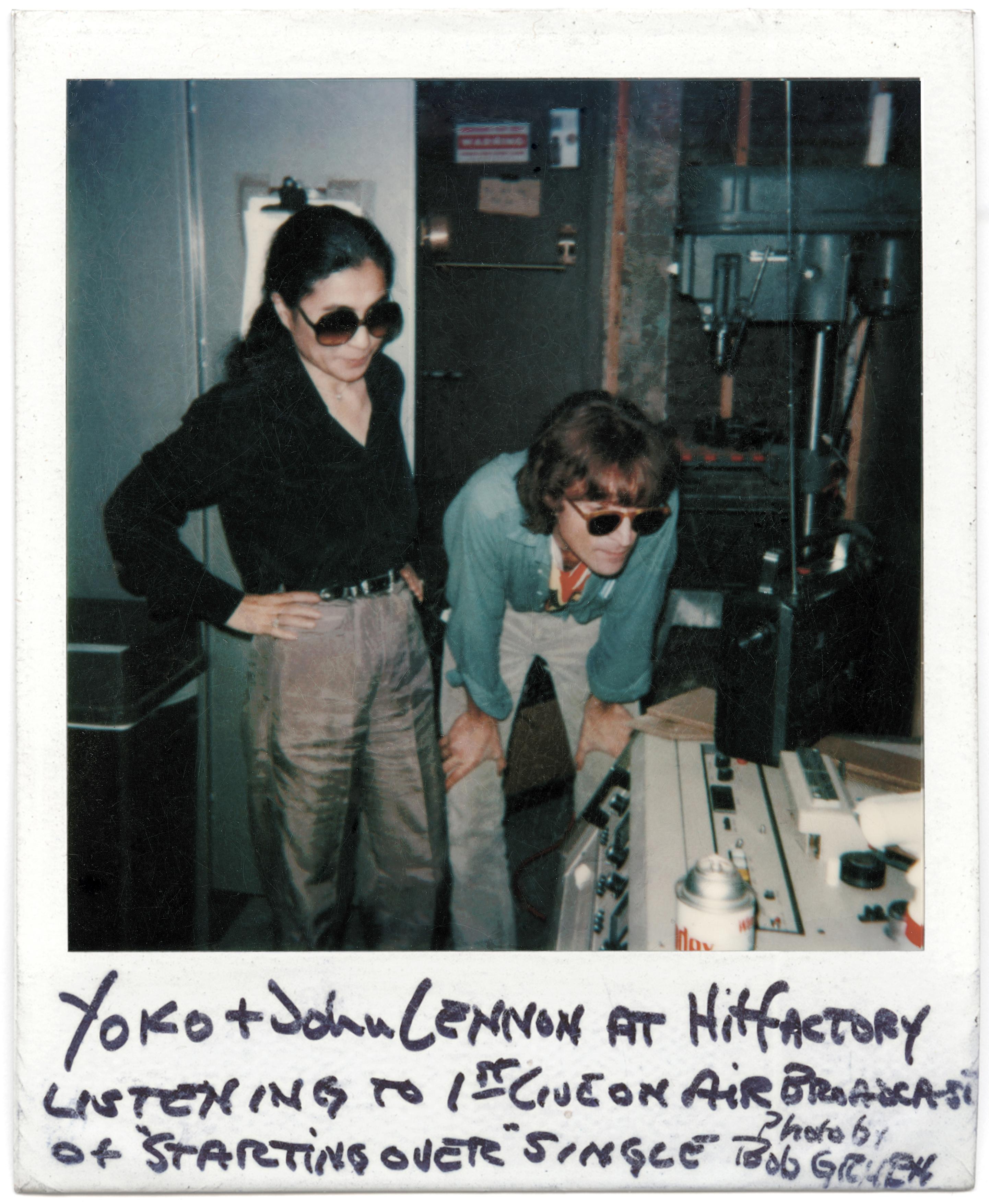 John Lennon and Yoko Ono at Hit Factors, NYC, 1980. © Bob Gruen/www.bobgruen.com