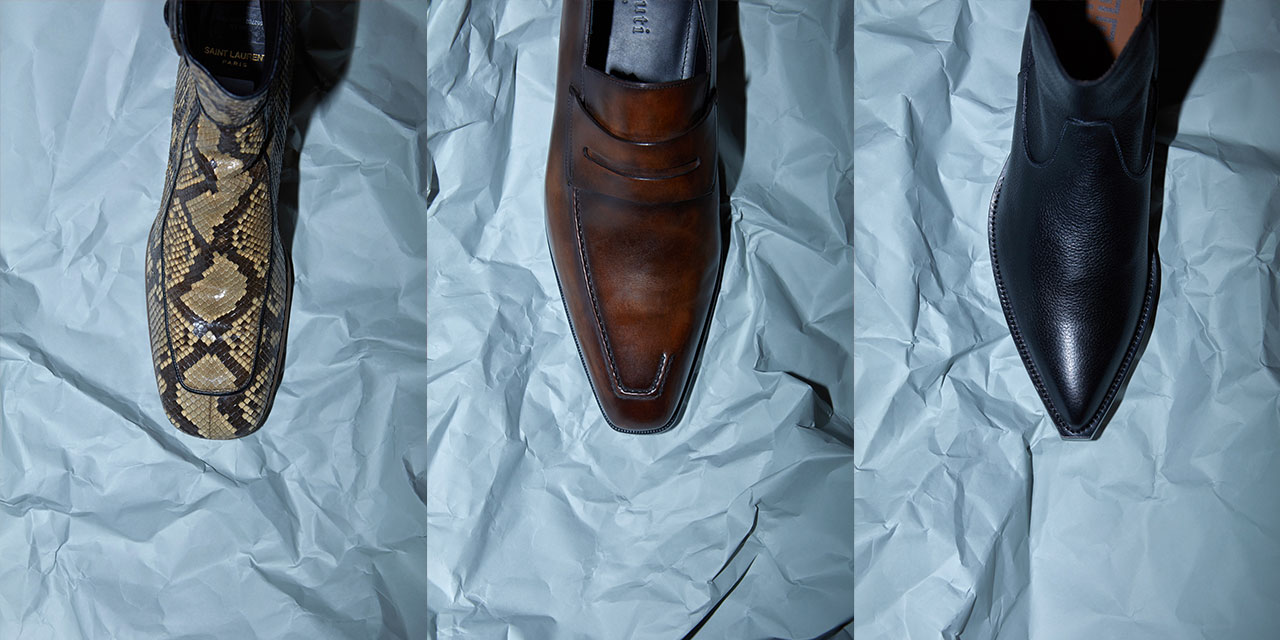 발끝까지 힘준, 신발들.