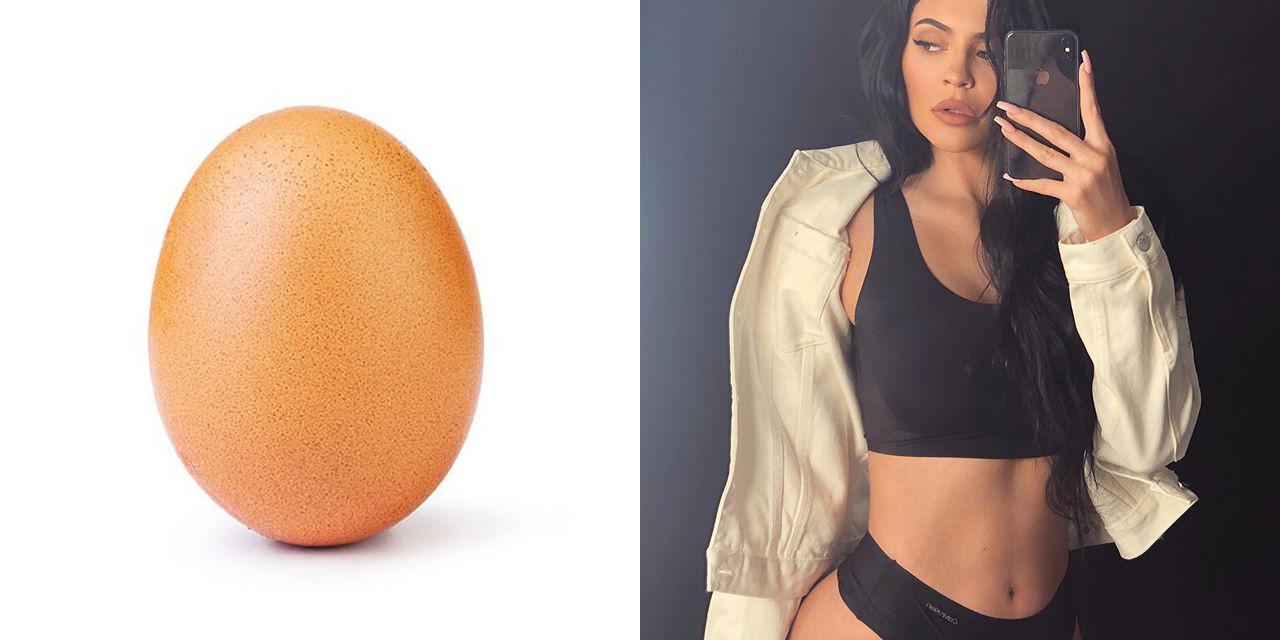 계란 하나가 카일리 제너의 인스타그램 '좋아요' 기록을 누르고 세계에서 가장 좋아하는 게시물이 됐다.